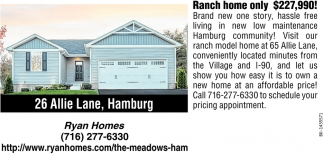 Ranch Home Only