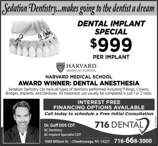 Dental Implant Special $999 Per Implant