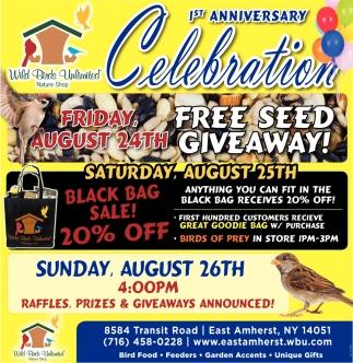 Seed Sale, Wild Birds Unlimited, Buffalo, NY