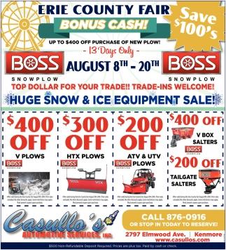 Erie County Fair Bonus Cash