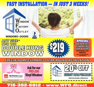 Window Fast Installation in Buffalo