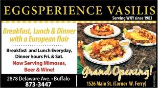 Breakfast Lunch Dinner With A European Flair Eggsperience Vasilis Buffalo Ny