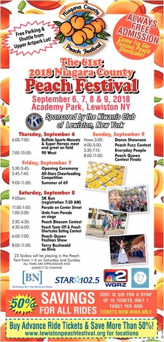 The 61th 2018 Niagara County Peach Festival