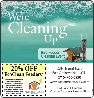 Bird Feeder Cleaning Event