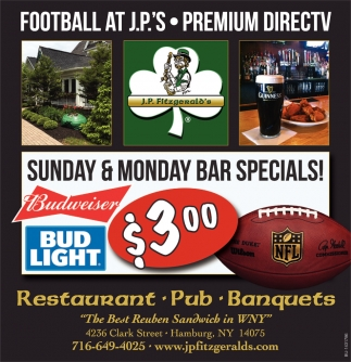 Sunday & Monday Bar Specials!