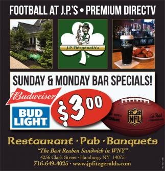 Sunday & Monday Bar Specials!