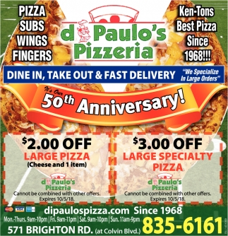 Dine In, Take Out & Fast Delivery