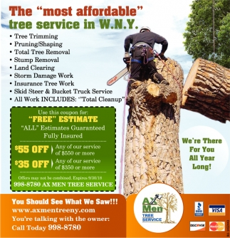 The Most Affordable Tree Service in W.N.Y.