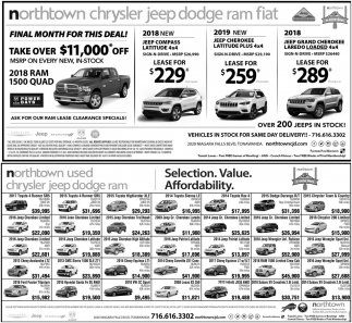 Finale Month For This Deal!, Northtown Chrysler Jeep Dodge