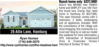 Ranch Home Only $227,990!