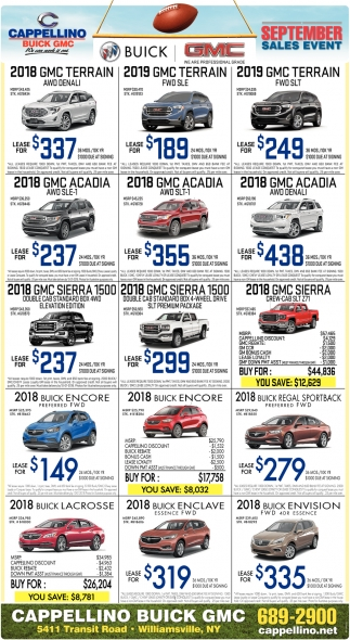September Sales Event