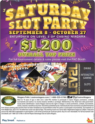 Saturday Slot Party