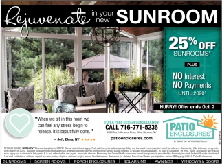 Rejuvenate In Your Ne Sunroom