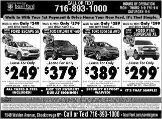Call Or Text Basil Ford Cheektowaga Ny