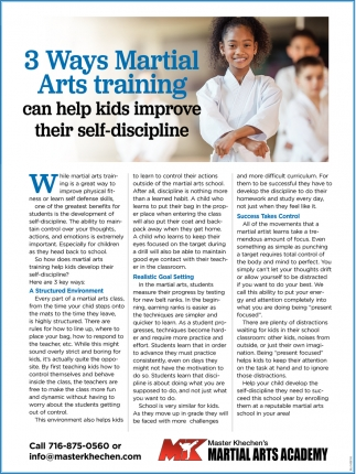 3 Ways Martial Arts Training