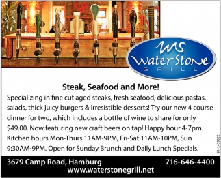 Steak, Seafood And More!