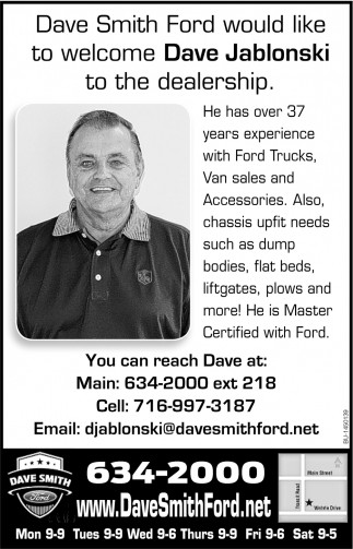 You Can Reach Dave At:
