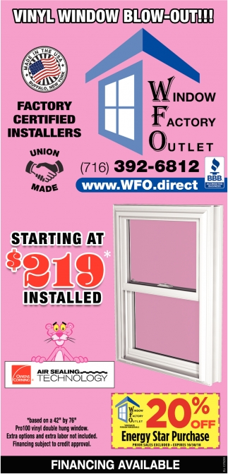 Starting At $219 Installed
