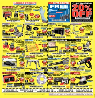 20% Off, Harbor Freight, Amherst, NY