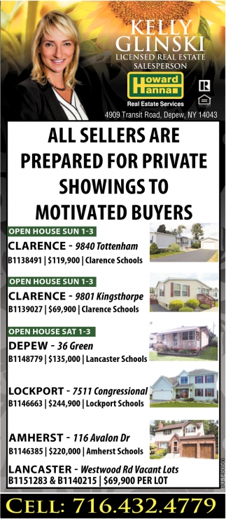 All Sellers Are Prepared For Private Showing To Motivated Buyers