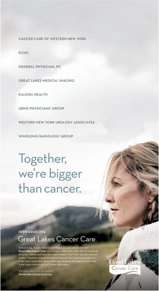 Together We're Bigger Than Cancer