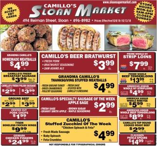 Camillo's Beer Bratwurst