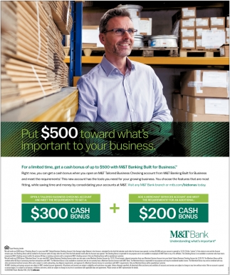 Put $500 Toward What's Important To Your Business