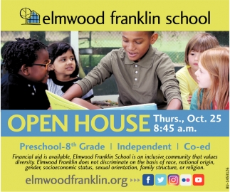 Preschool-8th Grade Open House