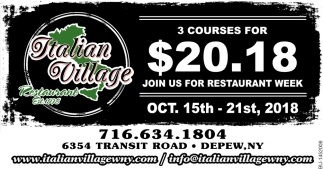 3 Courses For $20.18