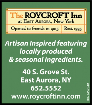 Artisan Inspired Featuring Locally Produce & Seasonal Ingredients
