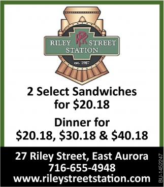 2 Select Sandwiches For $20.18