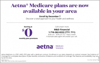 Medicare Plans Are Now Available In Your Area