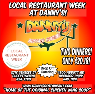 Local Restaurant Week At Danny's!
