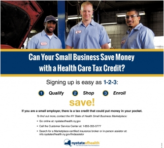 Can Your Small Business Save Money With A Health Care Tax Credit?