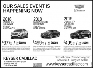 Our Sales Event Is Happening Now