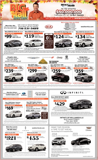 Big Fall Sales Event
