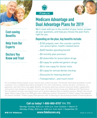 Medicare And Dual Advantage Plans