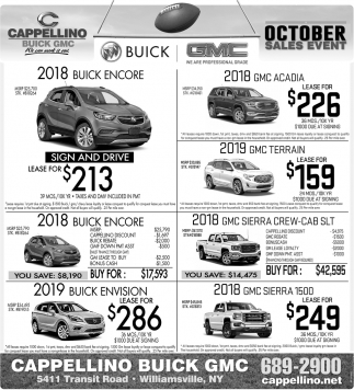 October Sales Event