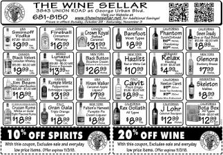 20% Off Wine