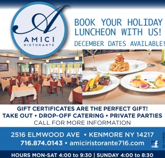 Book Your Holiday Luncheon With Us!