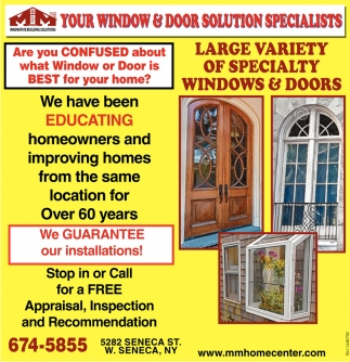Large Variety Of Specialty Windows & Doors