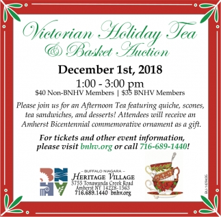 Victorian Holiday Tea