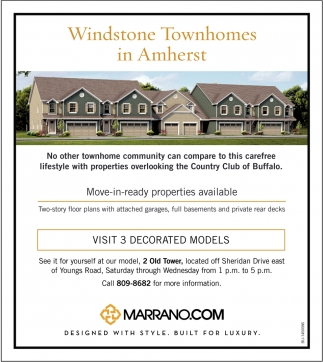 Windstone Townhomes In Amherst