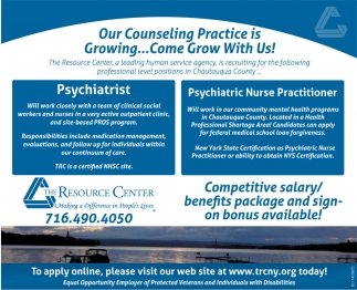 Our Counseling Practice Is Growing