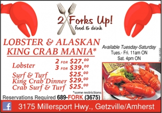 Lobster & Alaskan King Crab Mania
