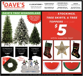 Tree Skirts & Tree Toppers Are Just $5