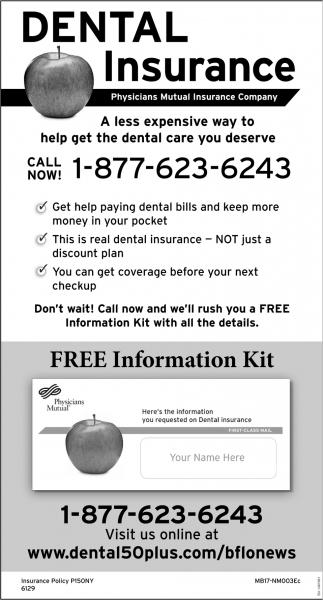 Free Information Kit Dental Insurance Physicians Mutual