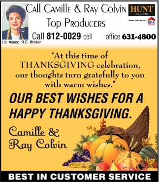Our Best Wishes For A Happy Thanksgiving
