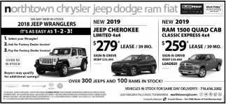 Dodge Dealers Rochester Ny >> 2018 Jeep Wranglers, Northtown Chrysler Jeep Dodge ...