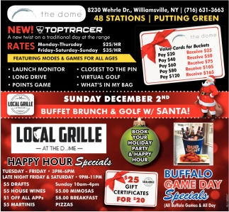 Buffet Brunch & Golf W/ Santa!